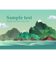 Summer frame into the sea vector image vector image