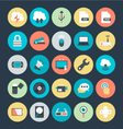 Technology and Hardware Colored Icons 4 vector image
