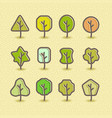 trees silhouette design set concept tree icon vector image