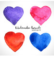 watercolor of color heart vector image