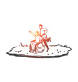 wheelchair handicapped boy walk concept vector image