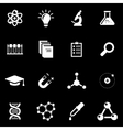 white science icon set vector image vector image