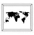 world paper map icon vector image vector image