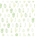 Herbs and spices doodle hand drawn pattern vector image