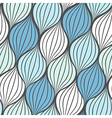 Seamless abstract hand drawn waves pattern vector image