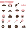 Set of dessert icons vector image