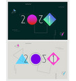 abstract geometric design new year vector image