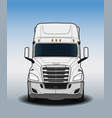 american trailer truck black and white sketch vector image