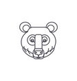 bear head line icon sign on vector image vector image