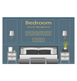 Bedroom design banner with furniture for your