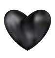 black love heart isolated on white background vector image vector image