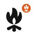 bonfire symbol vector image