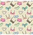 Bra and panties seamless pattern vector image