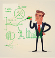 businessman make presentation vector image
