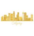 calgary city skyline golden silhouette vector image vector image
