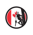 Canadian tree surgeon canada flag icon