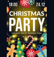 christmas party flyer poster invitation holiday vector image vector image