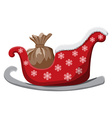 Christmas sledge isolated on white Background vector image vector image