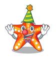 clown underwater sea in the starfish mascot vector image vector image