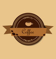 coffee round design in vintage outline hand drawn vector image vector image