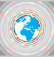 colorful earth vector image vector image