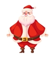 Colorful flat santa standing and smiling vector image vector image