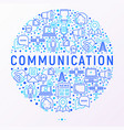 communication concept in circle vector image vector image