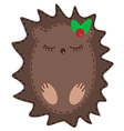 Cute cartoon hedgehog vector image vector image