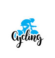cycling logo lettring vector image