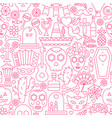day of the dead line seamless pattern vector image