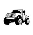 extreme offroad vehicle design vector image vector image