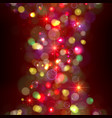 festive christmas background with lights vector image vector image