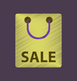 flat shading style icon package sale vector image