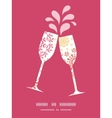 folk floral circles abstract toasting wine vector image vector image