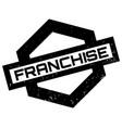 franchise rubber stamp vector image