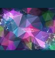 geometric multi purple polygonal background vector image vector image
