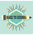 Happy Back To School colorful sun burst icon vector image vector image