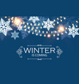 happy new year seasons background with snowflakes vector image
