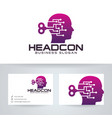 head control logo design vector image vector image