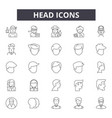 head line icons signs set outline vector image vector image