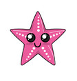kawaii cute happy starsish emoji vector image