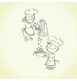 kid cooking vector image vector image