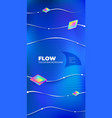 liquid line color background design blue fluid vector image vector image
