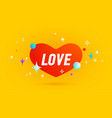 love banner speech bubble vector image vector image