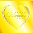 love golden heart from paper cut style valentines vector image