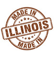 made in illinois brown grunge round stamp vector image vector image