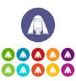 man egypt icons set color vector image