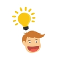 Man head cartoon vector image