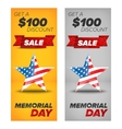memorial day sale banners vector image vector image