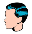 mens hairstyle icon icon cartoon vector image